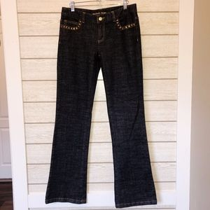 Michael Kors Studded, Flap Pocket Jeans - Size 4